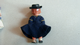 Vintage hard plastic miniature doll fully poseable 5-6 inch